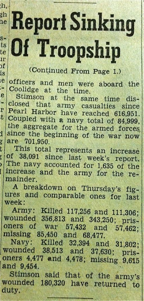Continuation of article found in Jan. 25, 1945 Billings Gazette