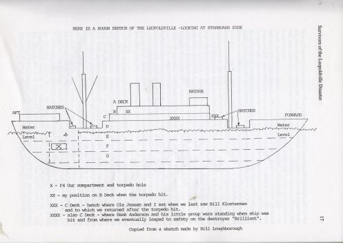 Bill Loughborough's SS Leopoldville drawing