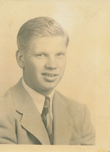 Carl's high school graduation picture, 1941.