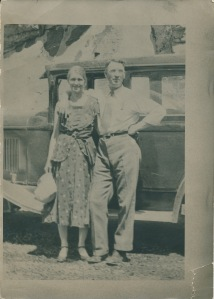 Grandparents Ellen and Carl Bonde in the 1920s or 1930s.