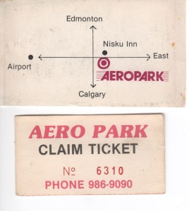 I still have the business card and claim ticket for our green '64 VW van that broke down 20 km south of Edmonton.