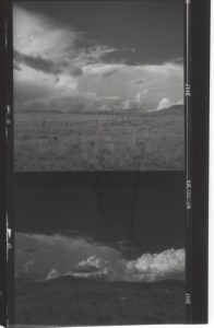 Admired cumulus in June on the way to Lame Deer