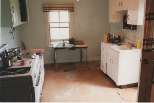 Tom's image showed as a light-colored area on his floor where his body decayed.