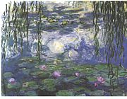 "Representative image from Monet's ""Water Lilies."""