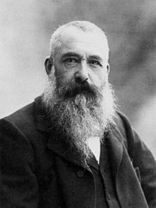 Monet in 1899, photo by Nadar.