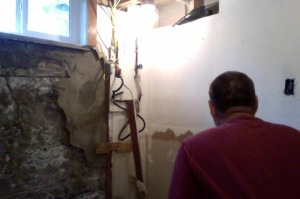 Darkroom at our house, being gutted.