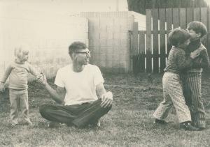 Clara, me, Bob and Todd in 1975 in Tustin, California.