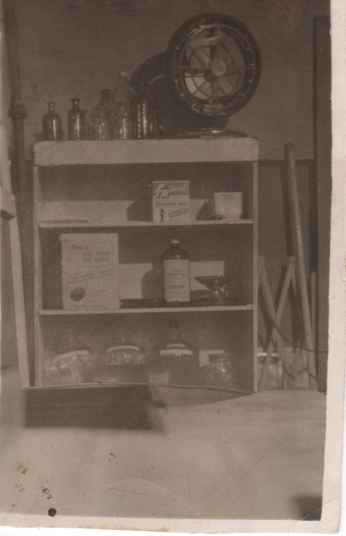 Darkroom in basement 1960