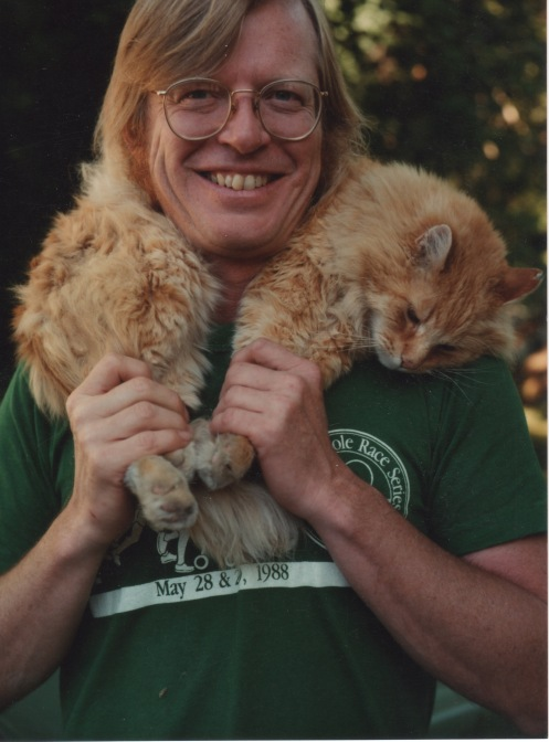 Mark and cat