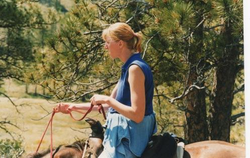 Clara Struckman Cheyenne Trail Ride 1998
