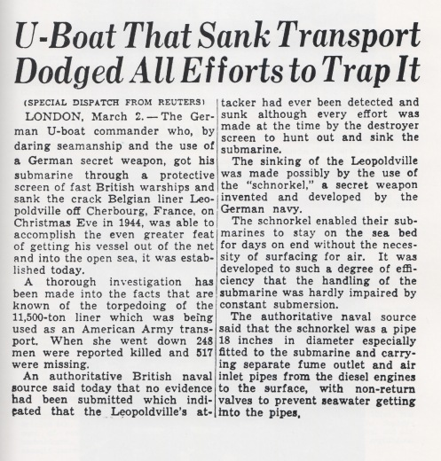 U-boat snorkle article